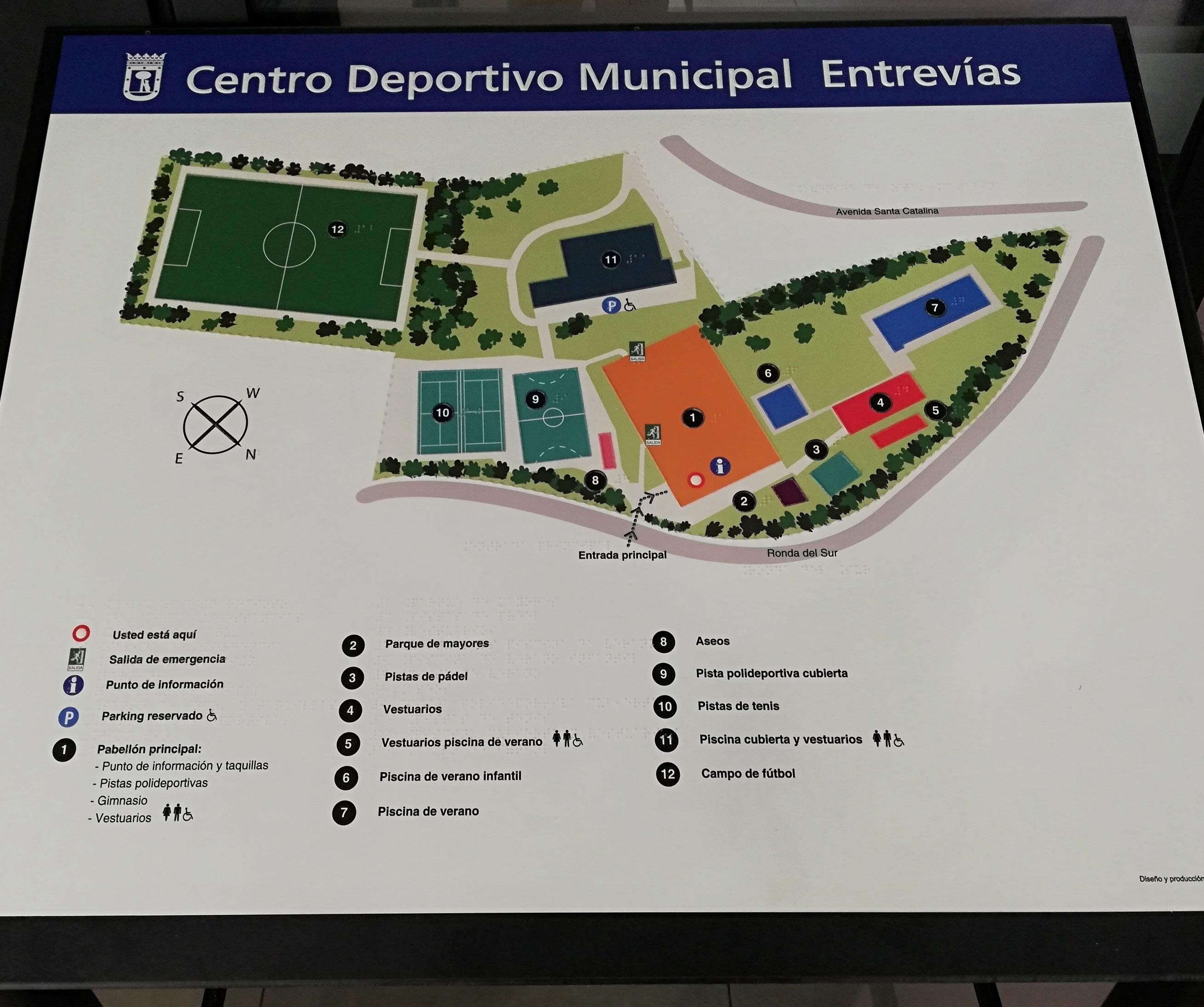 plano tacto visual del CDM de Entrevías